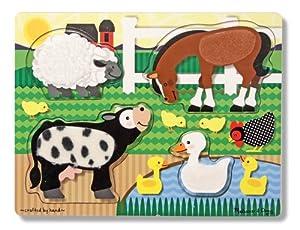 Melissa & Doug- Farm Animals Touch & Feel Puzzle (Melissa&Doug 14327)