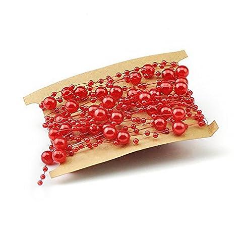 Lot de 15m DIY Craft Perles Perles Cordes Ligne de pêche Fil Garland la création de bijoux–accessoire de fête