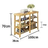 YNN 3-Stufen-Schuhschrank Bambus Haushalt Staubdicht Multifunktions Tür Schuhkarton Schuhbank Regal Höhe 70 cm (Größe : 100cm)