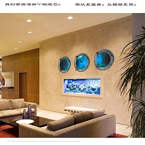 LQRRHY Simulation von 3 D Wandtattoos Tauchen DIY Ideen aus dem Wohnzimmer Sofa Hintergrund Dekoration