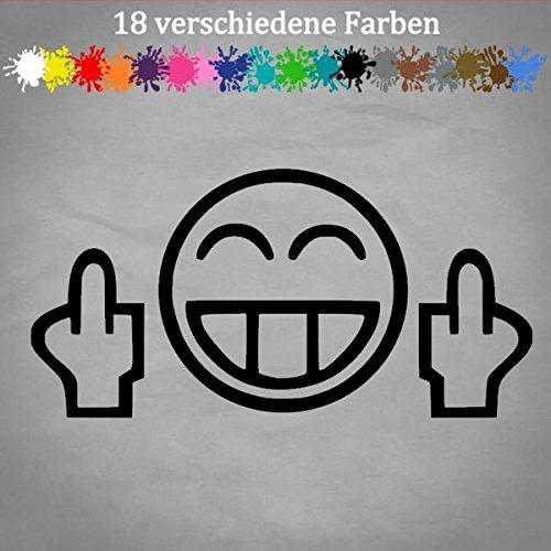 Generic Mittelfinger 20x10cm Smiley Auto Aufkleber gebraucht kaufen  Wird an jeden Ort in Deutschland