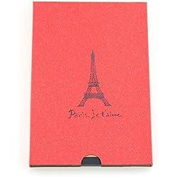 """álbum de scrapbooking, autoadhesivo álbum de fotos, libro de fotos/bloc de dibujo/libro de visitas vintage, regalo para cumpleaños, boda, aniversario, para hombres mujeres padres, """"Torre Eiffel de París"""" rojo"""