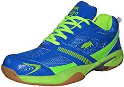ARYANS Womens Street Runner Blue Green Pu Badminton Shoes(Size 5Uk/IND)