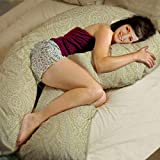 COOZLY Pregnancy U Pillow with fine PregnoCare Fibres and Cover (Beige, 4.5 Kg)