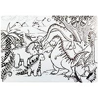 alles-meine.de GmbH Mal & Bastel & Knet - Unterlage / Schreibtischunterlage - Dinosaurier - Dino - 48 cm * 34 cm - zum bemalen anmalen - Platzdeckchen - abwischbar abwaschbar - S..