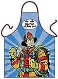 Comic Kochschürze Feuerwehr Pop Art Motiv = Bei mir brennt nichts an = lustige Kochmode von ITATI-Textilien (GR-42616)