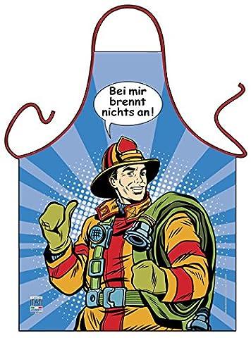 Bande dessinée tablier Pompiers Pop Art Motif = chez moi Brûle rien à = humoristique Chef de la mode Itati-42616textiles (Gr)