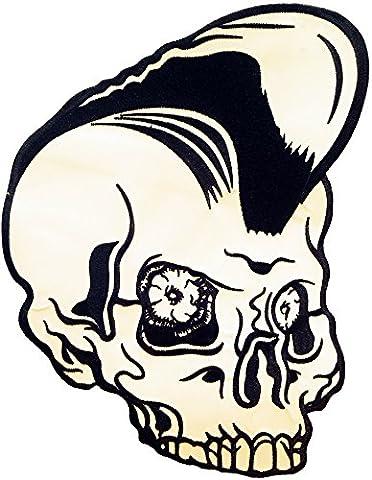Psychohead Psycho Kopf Rockabilly 60s Rocker Biker Aufnäher BACKPATCH