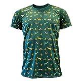 Luanvi Edición Limitada Camiseta técnica Dinos, Hombre, Verde, S (47-67cm)