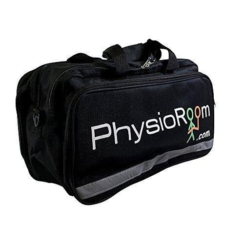 PhysioRoom Erste Hilfe Tasche Notfalltasche (Leer) - Hochwertiges Nylongewebe - Wasserfest & Geräumig - Ideal für den Sport insbesondere Ballsportarten wie Fußball, Handball, Volleyball & Basketball - Schwarz