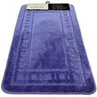 Armoni Blue Bath Mat Set 2 Piece Bathroom Set Bath Mat Pedestal Mat Non Slip Backing