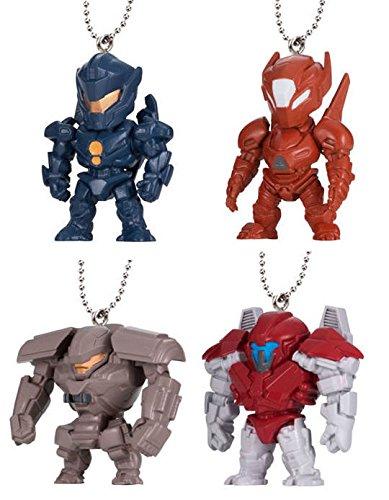 Pacific Rim 2 Uprising Komplettset von 4 Figur Sammlung Swing Mascot Bandai - Gipsy Avenger + Saber Athena + Bracer Phoenix + Guardian Bravo -