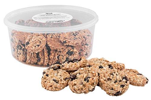 Vital-Gebäck, Müsli-Kekse mit Haferflocken, Erdnüssen, Sonnenblumenkernen, Sesam und Korinthen, in der 500g Dose