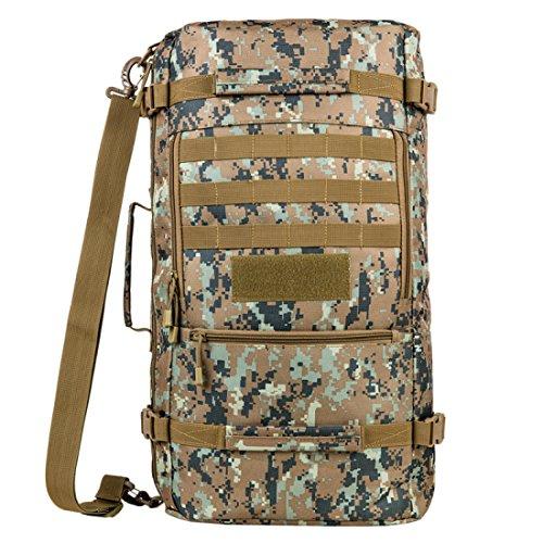 LF&F Backpack Camping outdoor Zaini Borse Zaino multiuso multifunzione borsa pacchetto diagonale 45 L di grande capacità solido e durevole impermeabile strappo zaino tattico di camuffamento A4 45L A4