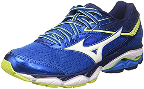 Mizuno Wave Ultima, Chaussures de Running Homme, Multicolore (Directoireblue/White/Safetyyellow), 42