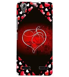 ColourCraft Love Heart Design Back Case Cover for LENOVO A6000
