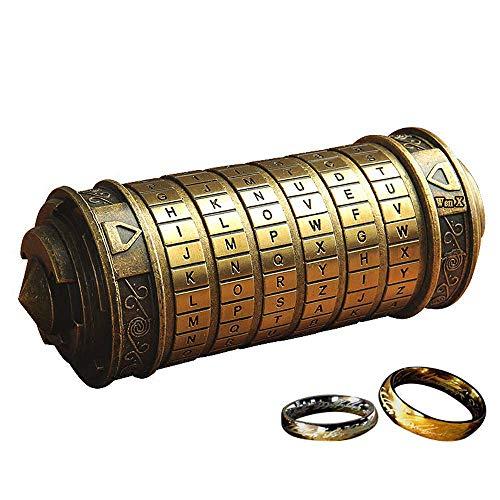 WenX 2019 Da Vinci Code Mini Cryptex / Mini Passwort Box / Romantischer Valentinstag Kreatives Geburtstagsgeschenk (Neue Halloween-specials 2019)