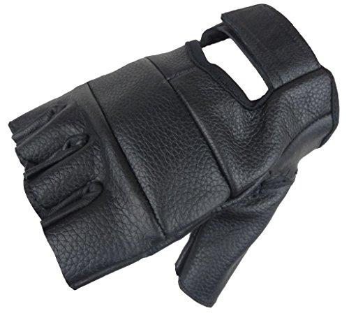 Motorrad Handschuhe Fingerling aus weichem Rindsleder Schwarz L