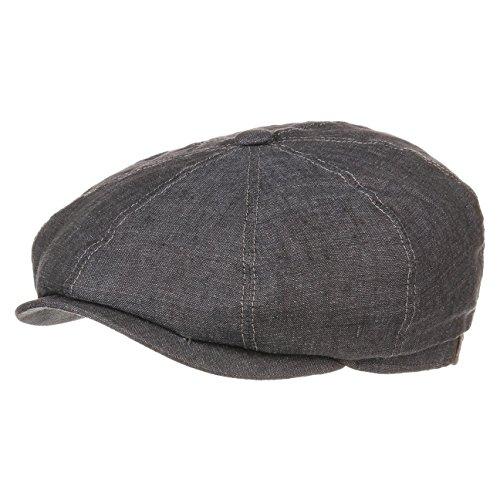 casquette-plate-hatteras-en-lin-by-stetson-59-cm-anthracite