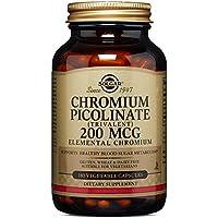 Solgar Chromium Picolinate 200 mcg Vegetable Capsules, 180 V Caps 200 mcg