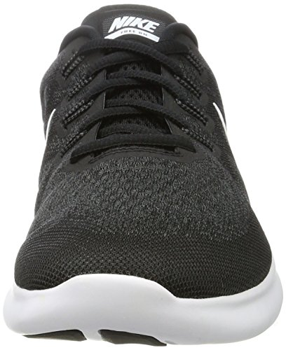Nike Damen Women's Nike Free Rn 2 Running Shoe Hallenschuhe Mehrfarbig (Black/White-Dark Grey-Anthracite)