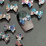 PIXNOR 10 Stück Nägel Strasssteine Nail Art Sticker Dekoration (Multicolor)