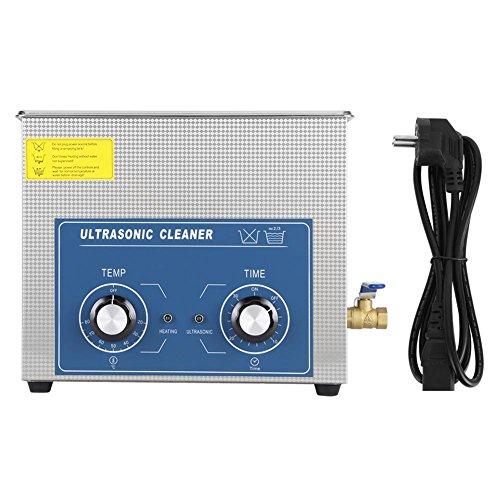 Pulitore ad Ultrasuoni, 3L/6L/10L/14L/15L/22L Ultrasonic Dispositivo Cleaner con Timer E Cesto, Pulitore industriale ad ultrasonico pulizia in acciaio inox (3L)