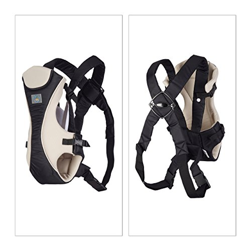 Little Choice Baby Carrier Smart Bag, Ergonomic Backpack for Infants 3 Months and Up, with Bib, Black-White  little Choice