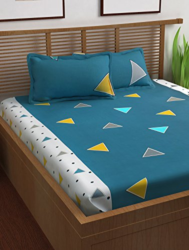 Story@Home 120 TC 100% Cotton Prism Collection Triangles Geometric Pattern 1 Double...