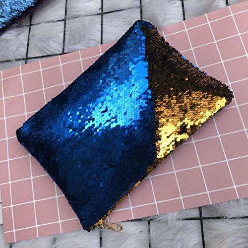 Portafoglio Donna, Tpulling Donne Doppio Colore Sequins Portafoglio Borsa Portafoglio Portafoglio (A) A