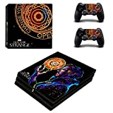Hytech Plus ' Doctor Strange Special Edition Theme Sticker ' for PS4 PRO Console and 2 Controllers