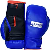 Henco PU Pro Boxing Gloves (Blue, 1 Pair)