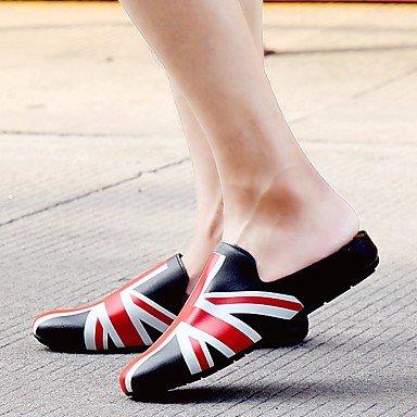 Slippers & amp da uomo;Primavera PU comfort Casual Sandali Grigio Nero sandali US8 / EU40 / UK7 / CN41