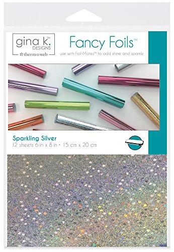 "THERMOWEB Sparkling Silver Gina K Designs Fancy Foil 6""X8"" 12/Pkg"
