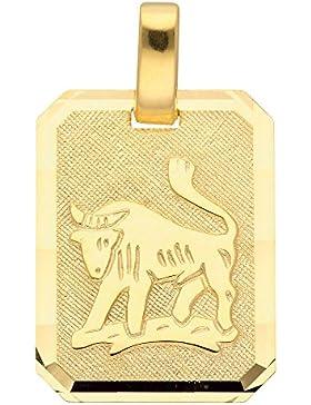 Gold 8 k ( 333 ) Sternzeichen Anhänger - Stier - B. 11,8 mm - H. 15,5 mm