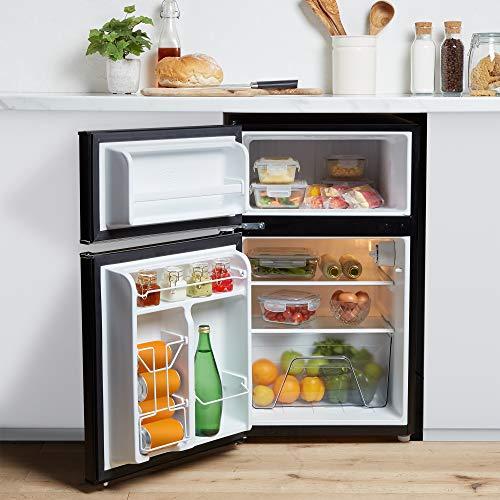 51sFImfKFnL. SS500  - VonShef 85L Freestanding Under Counter Fridge Freezer With Reversible Door, Adjustable Temperature Control and Internal…