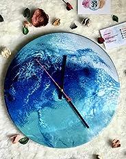 Orologio Da Parete A Effetto Marmo 30 cm Diametro, Resina, Arte, Orologio, Scegli i tuoi colori