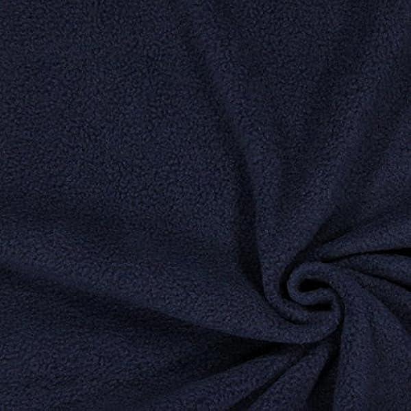 Laine polaire tissu FC0019-Bleu Marine-M