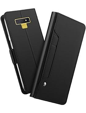 Funda Samsung Galaxy Note 9 Flip Case de Cuero Funda Protectora Bookstyle Cartera Tarjeta Monedero/Ranura Tarjeta...