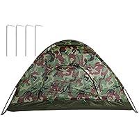 UniqueHeart Camouflage de Tente de Camping de Couche Simple Tente de Chasse de Pêche Imperméable Wigwam