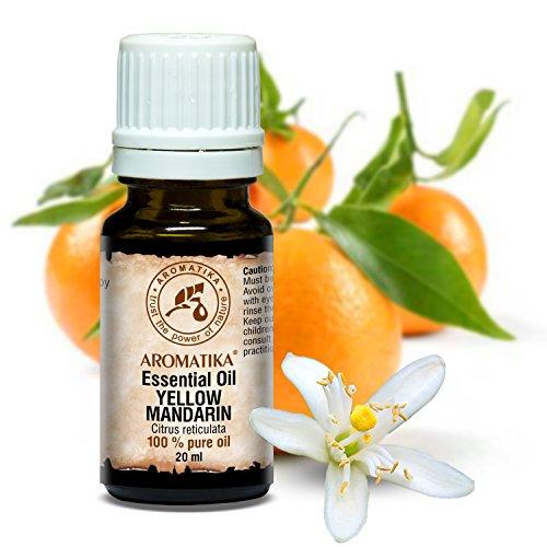 Aceite Esencial de Mandarina 20ml - 100% Puro y Natural - usos Aceite Mandarina para Aliviar la Tensión - Relájese - Beneficios para Cosméticos - Aceites Esenciales Mandarina
