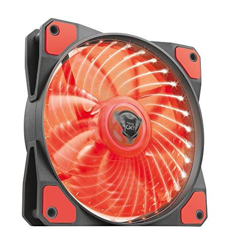 Trust GXT 762R Beleuchteter PC-Gehäuselüfter rot
