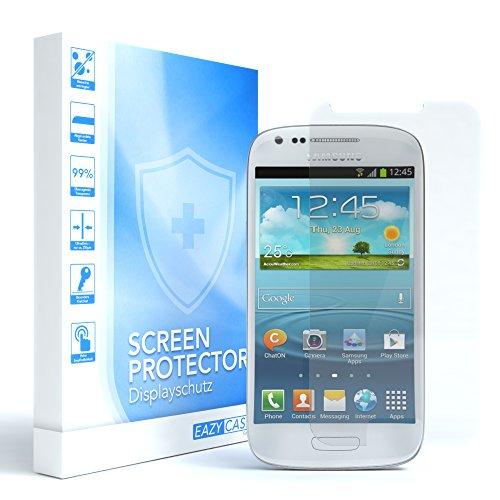 EAZY CASE 1x Panzerglas Bildschirmschutz 9H Härte für Samsung Galaxy S3 Mini, nur 0,3 mm dick I Schutzglas aus gehärteter 2,5D Panzerglasfolie, Bildschirmschutzglas, Transparent/Kristallklar