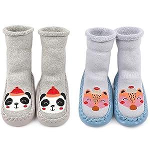 Adorel Calcetines Zapatos Antideslizantes Forros Bebé 2 Pare 3