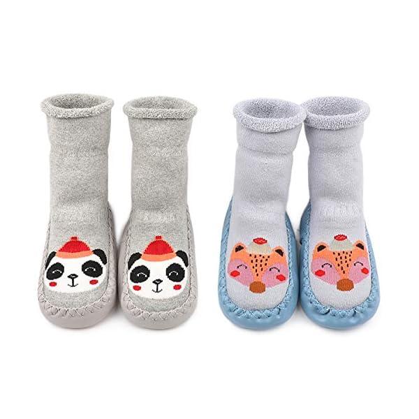 Adorel Calcetines Zapatos Antideslizantes Forros Bebé 2 Pare 1