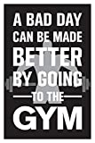 Inephos Gym Fitness Quotes Poster Art | Gym Motivation Posters (12 x 18 inch)