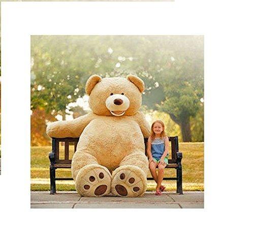 hugfun-huge-93-inch-236cm-plush-sitting-teddy-bear-blonde