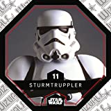 Rewe STAR WARS Cosmic Shells Normal 11 Sturm Truppler (11 STURMTRUPPLER) + WIZUALS STICKER