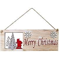 Weihnachten Holzanhänger Hängende Tür Dekorationen Weihnachtsbaum Home Par Nett