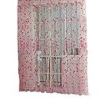AFfeco Blumen Tür Fenster Vorhang pink